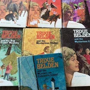 Vintage Trixie Belden books 7 books